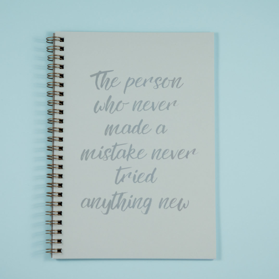 Personalised notebook silver text on cover
