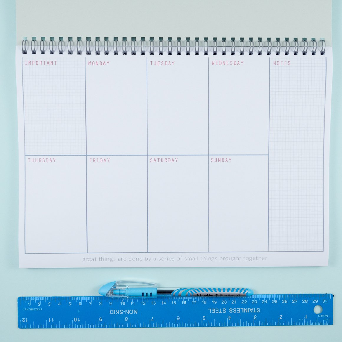 personalised weekly planner undated