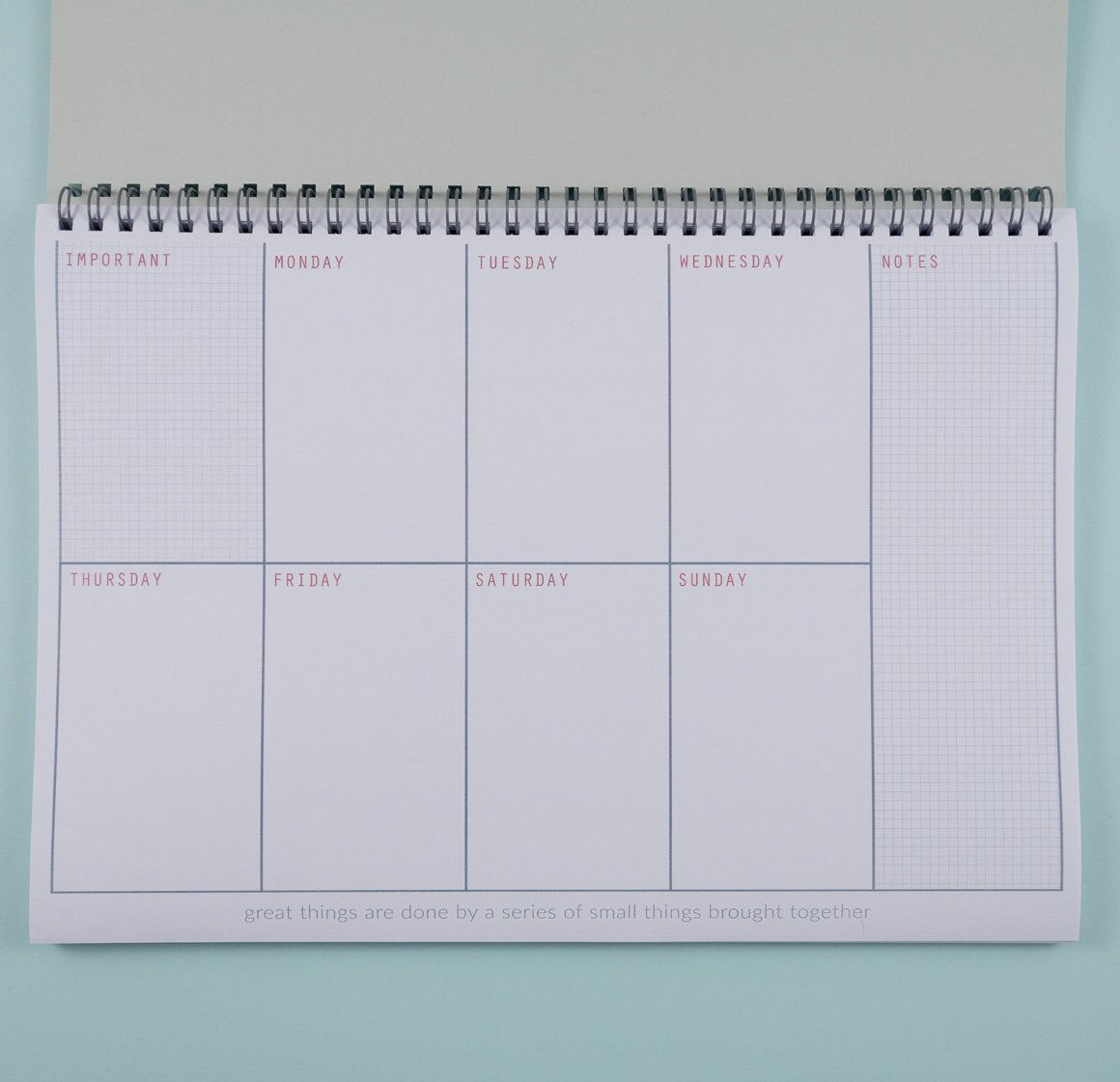 personalised undated weekly planner a4