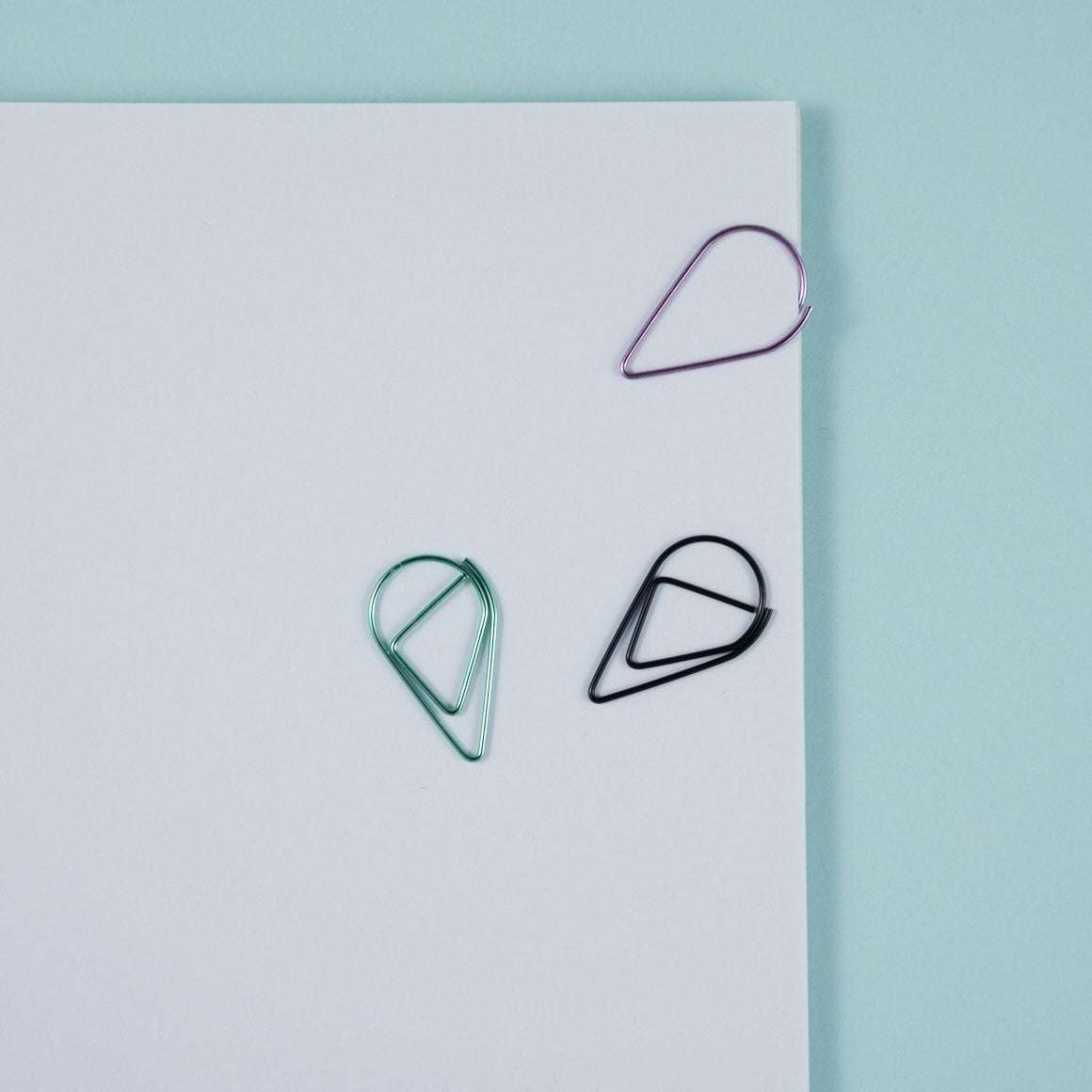 rain drop shaped paperclip