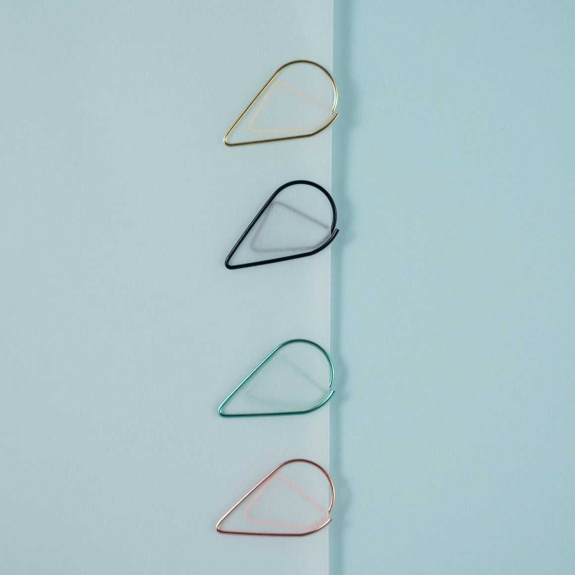 raindrop shaped paper clip
