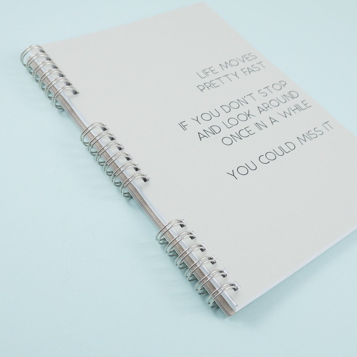 triple spiral binding personalised notebook