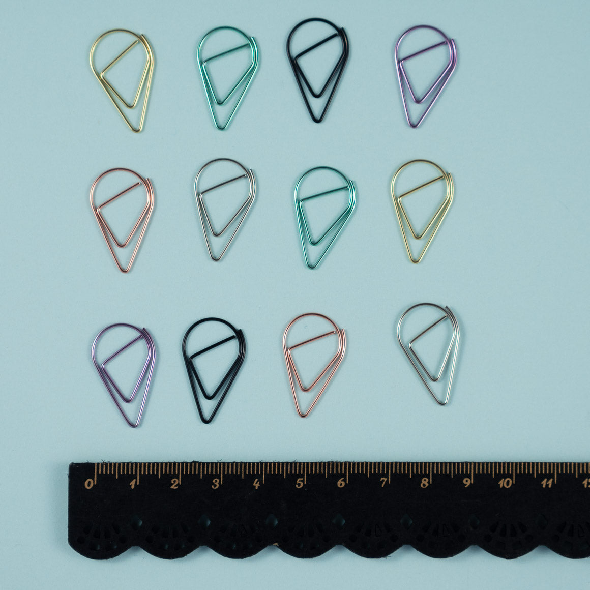 teardrop mini paper clips