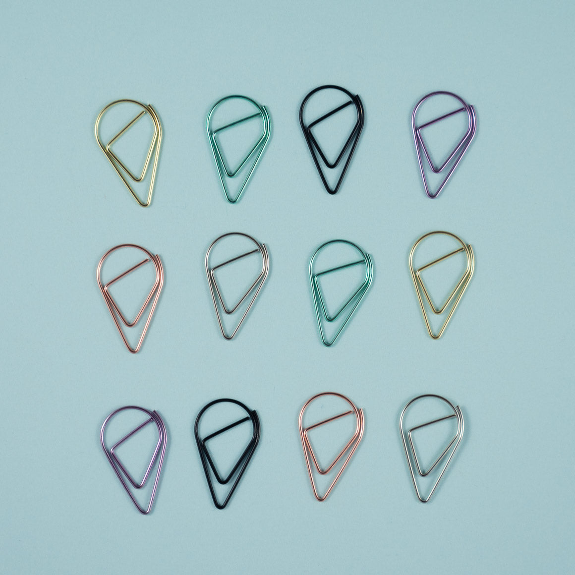 teardrop shaped paperclips