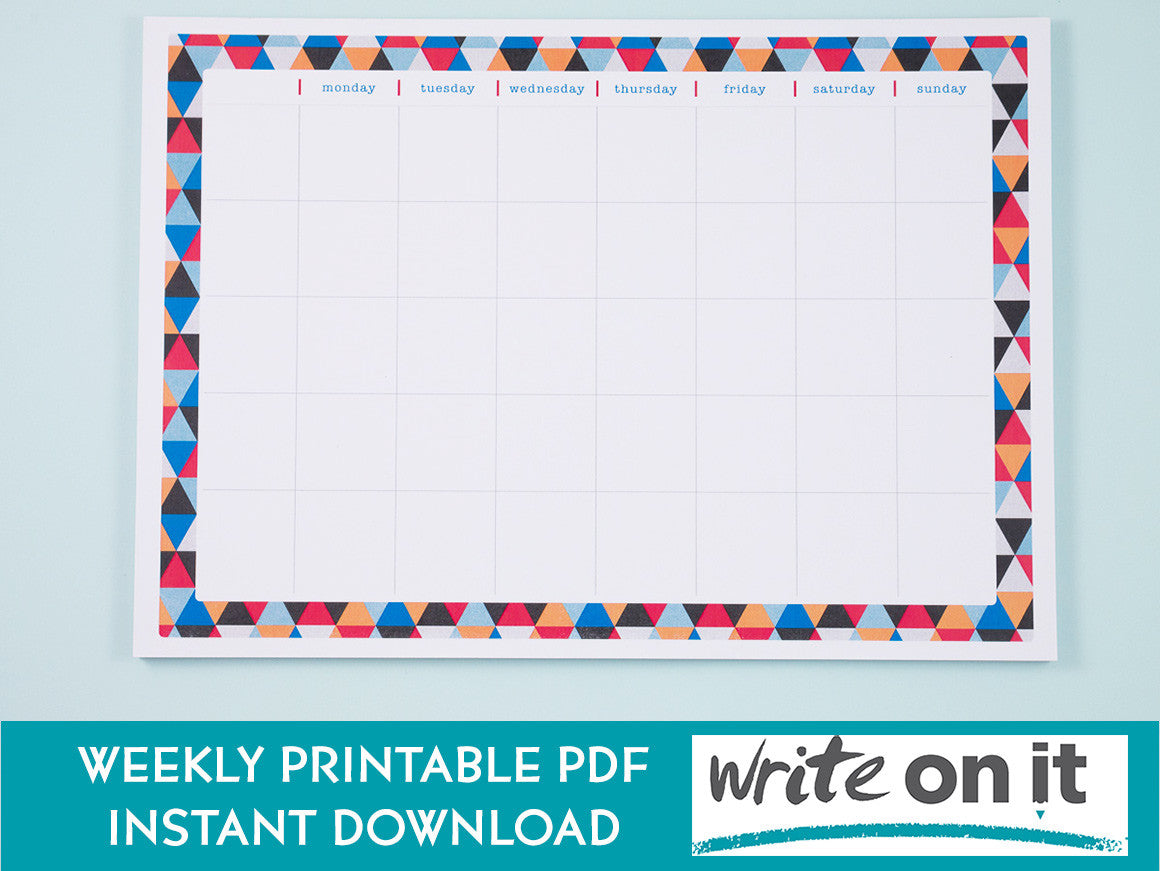 a4 weekly planner printable