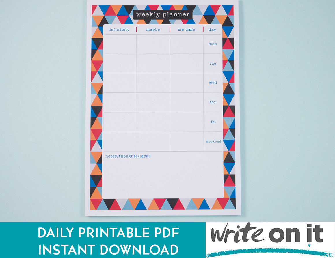 weekly planner instant download
