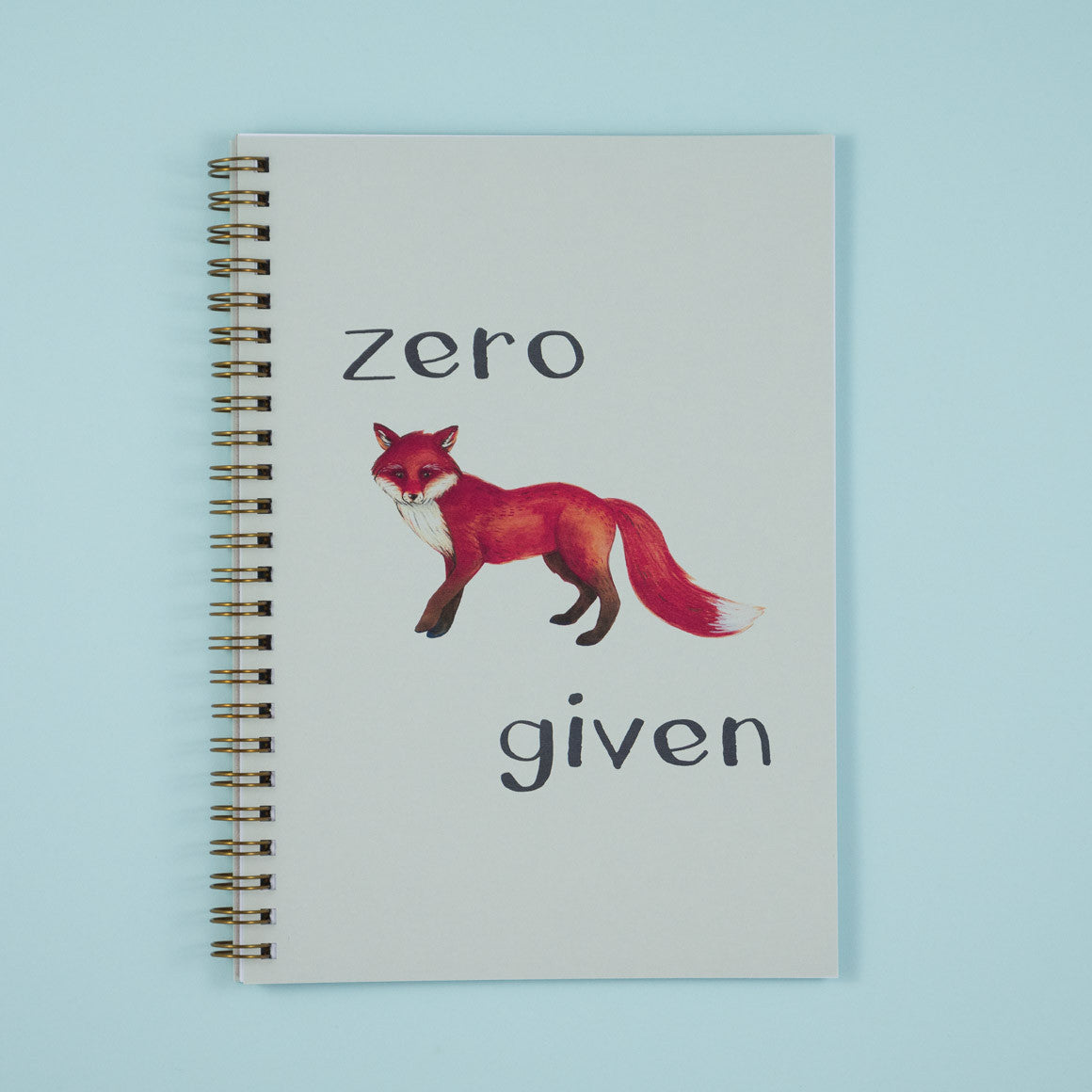 Zero fox given notebook a5