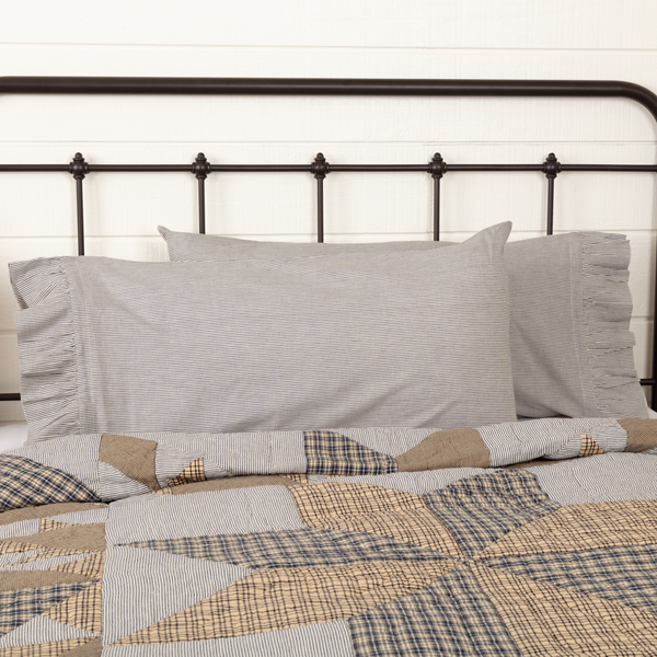 Dakota Star Farmhouse Blue Bedding Collection by VHC Brands