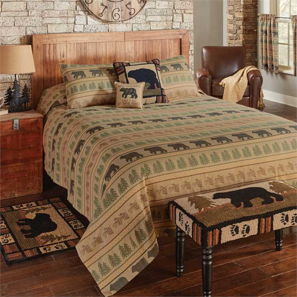 Bear Tracks Queen Bed Spread Set