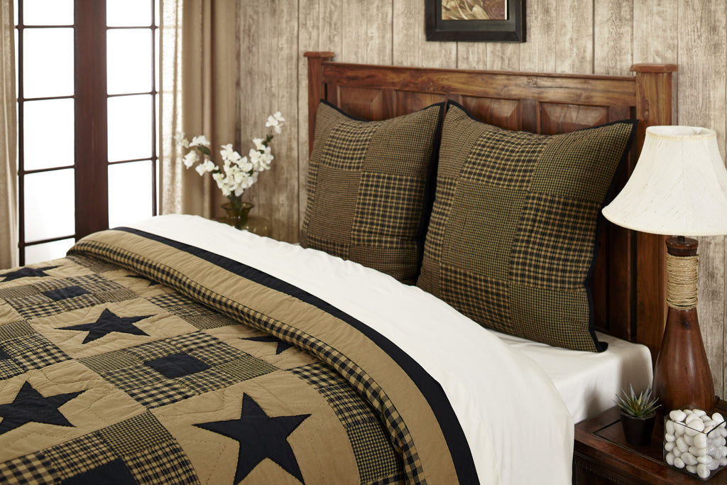 Shiloh Star Quilted Euro Sham 26x26""