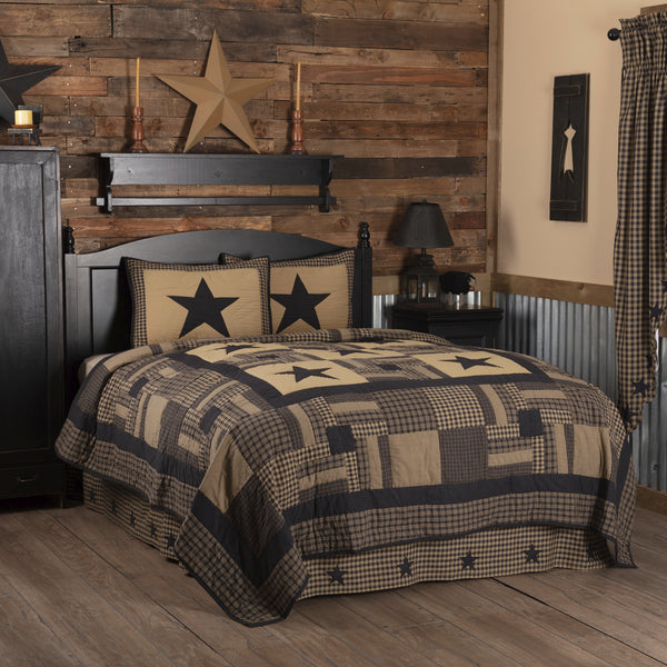 Black Check Star Quilt Bundles - VHC Brands