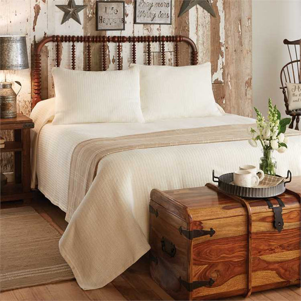 Farmington Cream 3-PC Queen Bedding Set