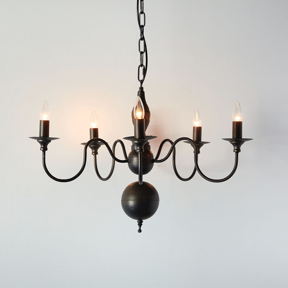Five Arm Colonial Pendant Lighting