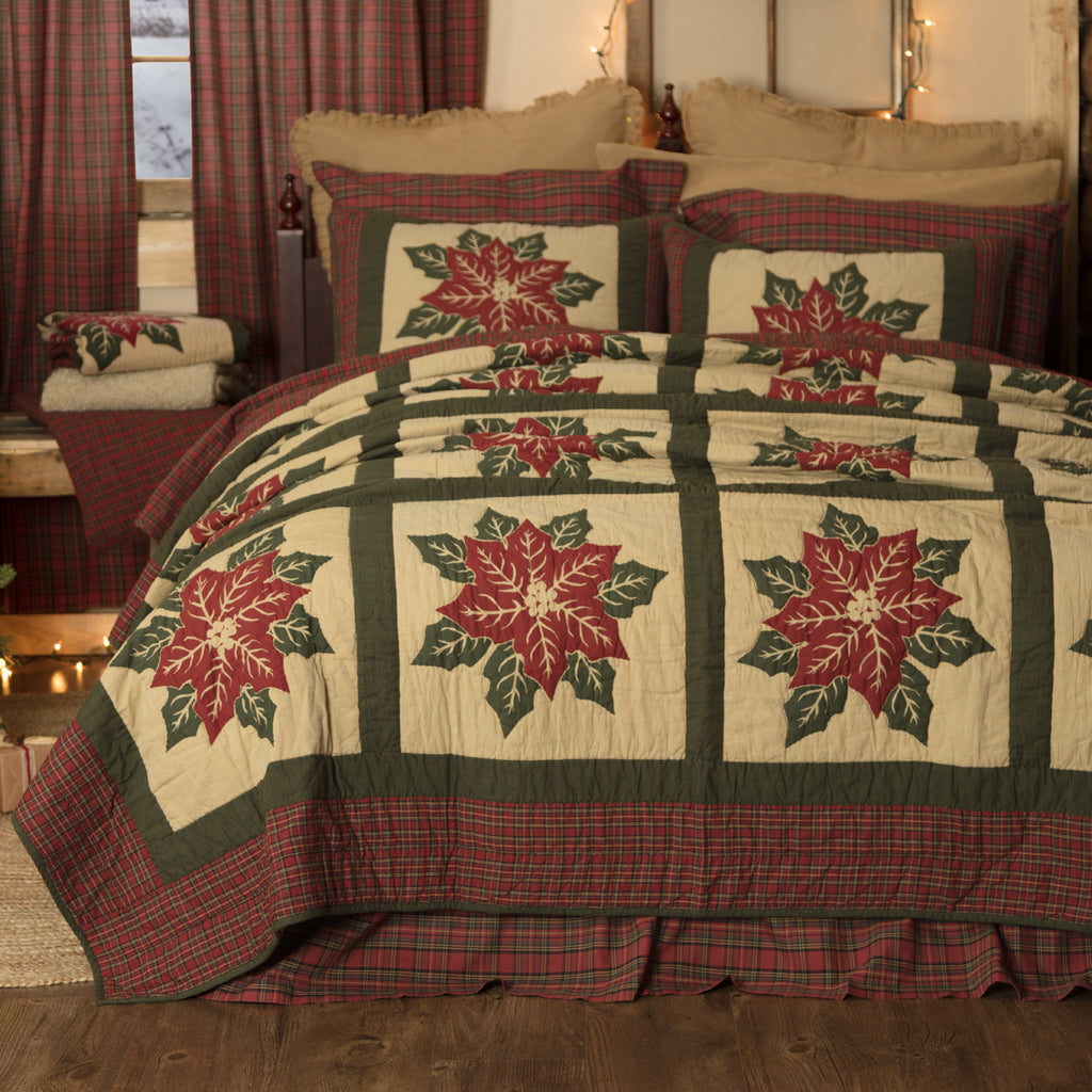 Poinsettia Block Quilts & Accessories