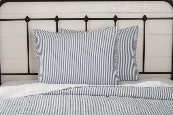 Sawyer Mill Blue Quilts and Ticking Stripe Coverlets & Accessories