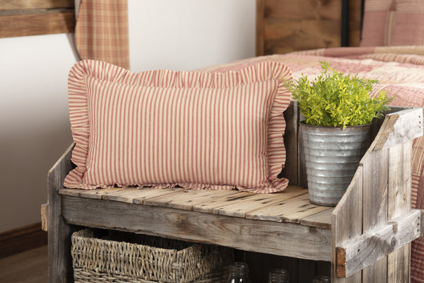 Sawyer Mill Red Ticking Stripe Bedding Collection by VHC Brands