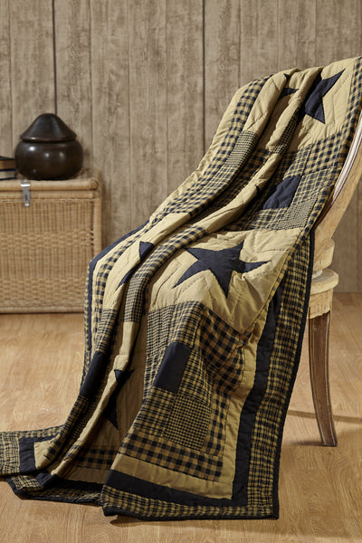 Shiloh Star Quilted Throw 50x60""