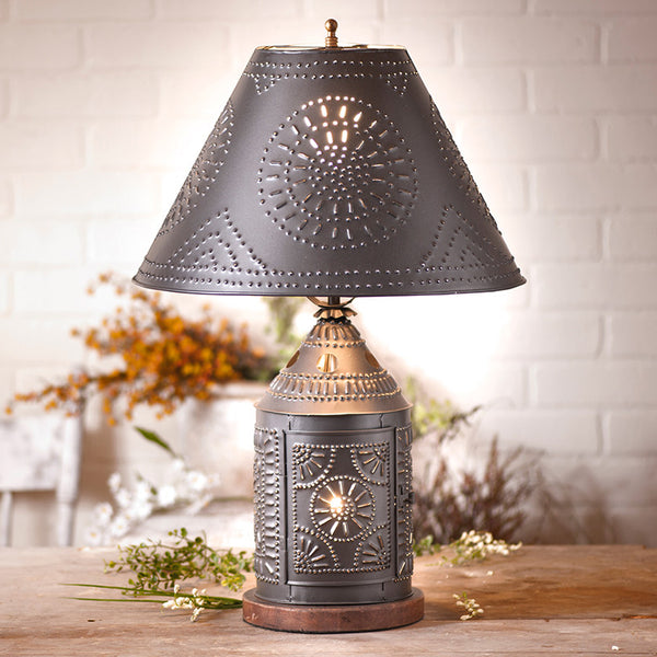 Tinner's Revere Table Lamp with Shade