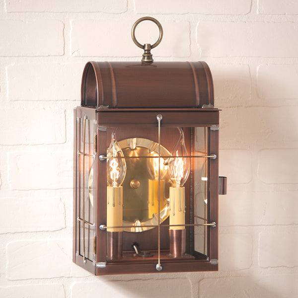 Toll House Wall Lantern in Antique Copper