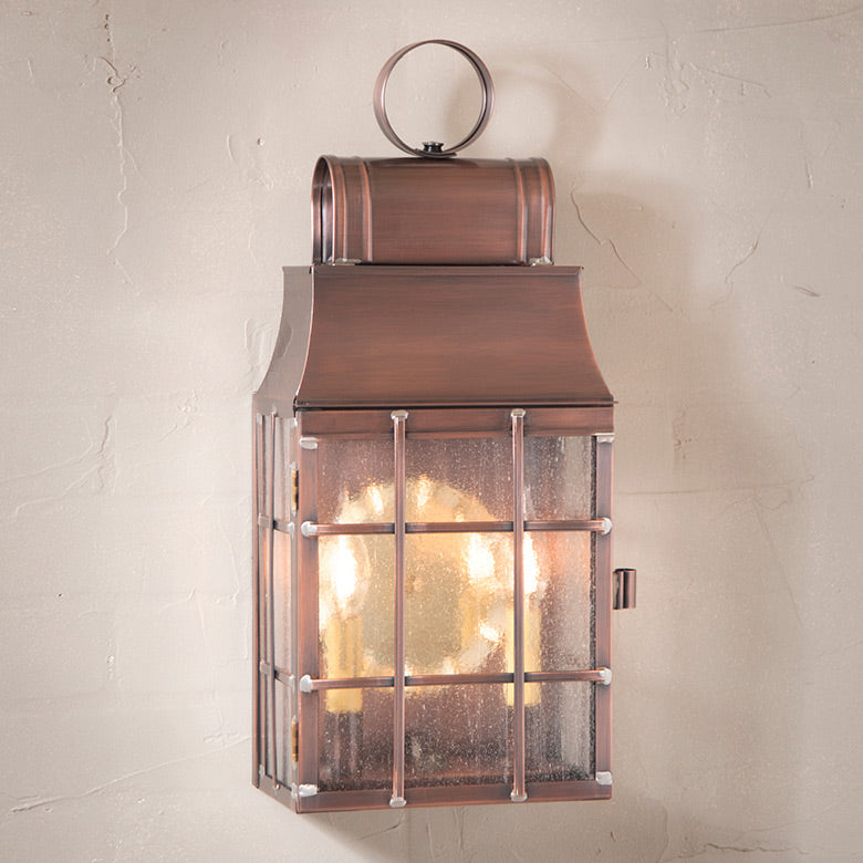 Washington Wall Lantern in Antique Copper