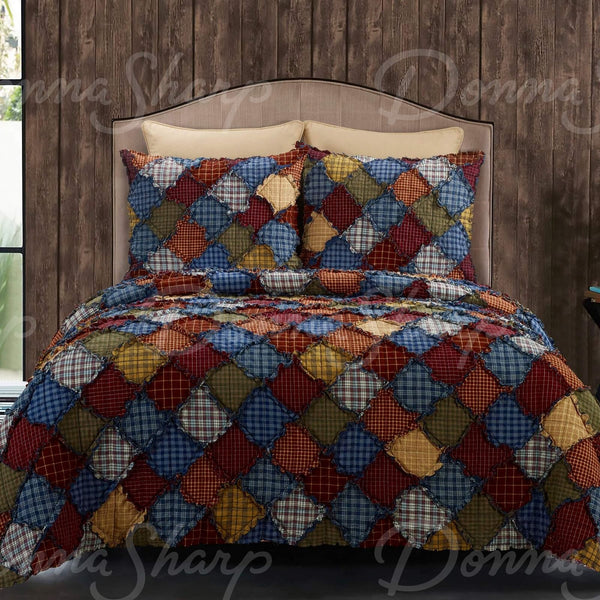 Blue Ridge Rag Quilt Sets by Donna Sharp
