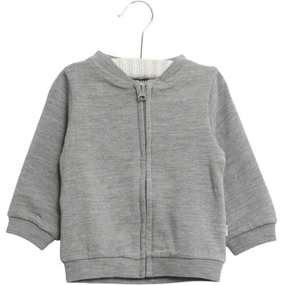Wheat Wool Cardigan aus Wolle Sweatshirts 0224 melange grey