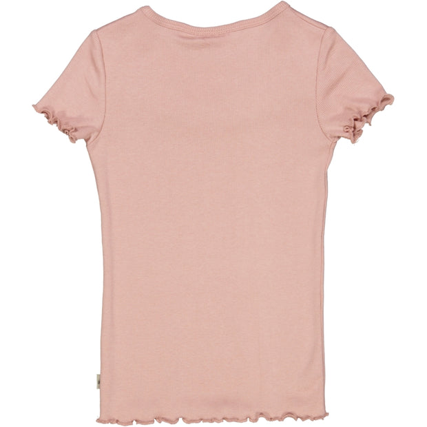 Wheat Geripptes T-Shirt mit Raffungen Jersey Tops and T-Shirts 2270 misty rose