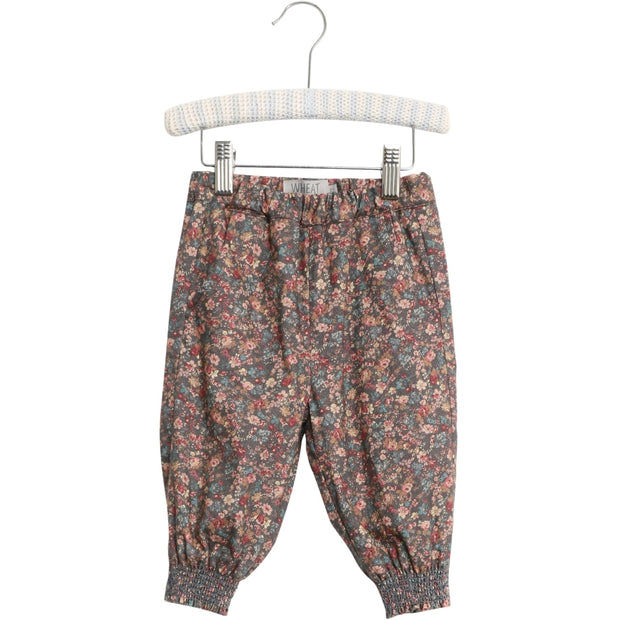 Wheat Hose Sara Trousers 1595 petroleum flowers