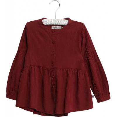 Wheat Langarmshirt Julie Shirts and Blouses 2105 burgundy