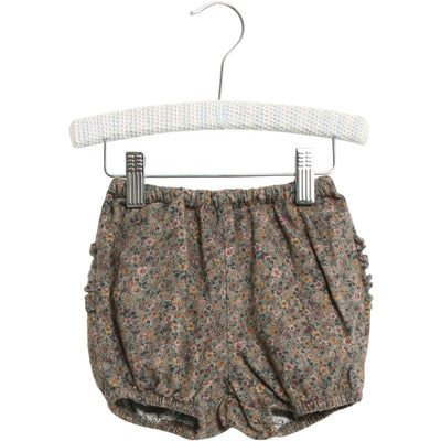 Wheat Nappy Pants Ruffles Shorts 4150 green flowers