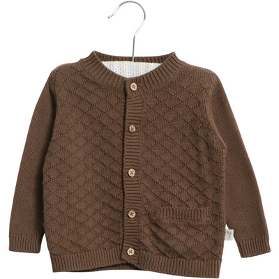 Wheat Strickjacke Ray Knitted Tops 3086 dark rock
