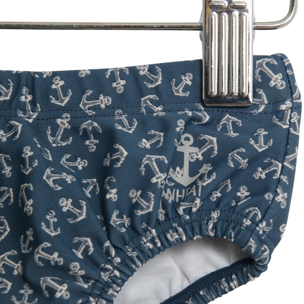 Wheat Swim Shorts Magnus Swimwear 9064 indigo anchor