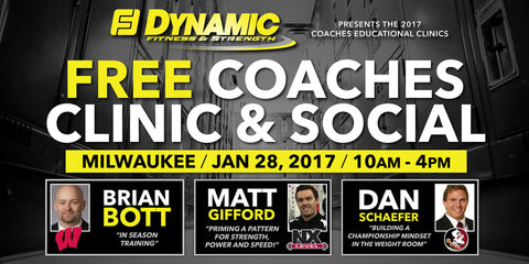1/28/17 - FREE Coaches Clinic & Social - Milwaukee