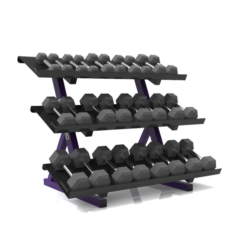 Accell 3 Tier Hex Dumbbell Rack