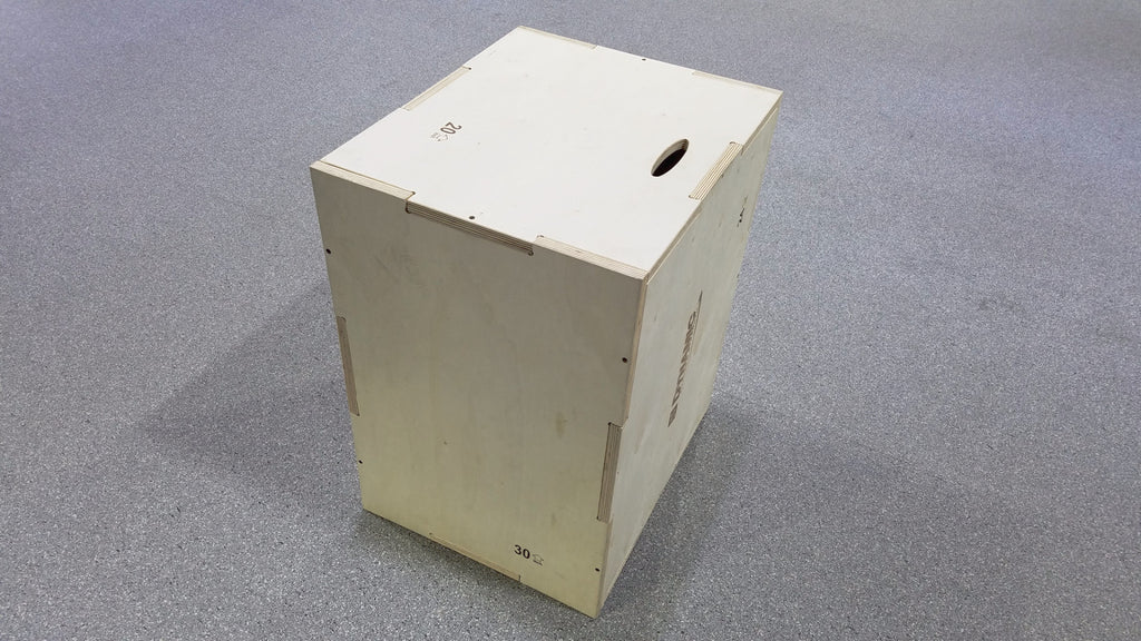 In wood plyo box dynamic fitness strength