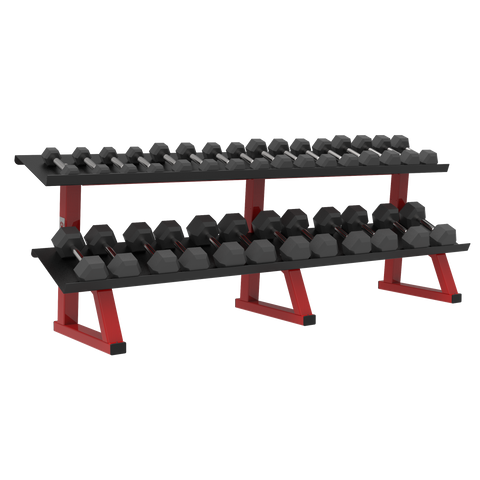 ULTRA PRO 2-TIER HEX DUMBBELL RACK