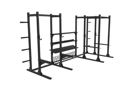 Gladiator Half Rack/ Power Rack Combo, Annex Storage System