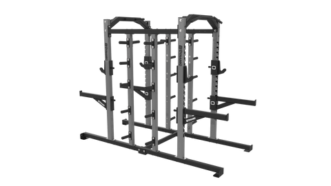 Edge Double Half Rack, Dual Storage Post, Olympic Storage
