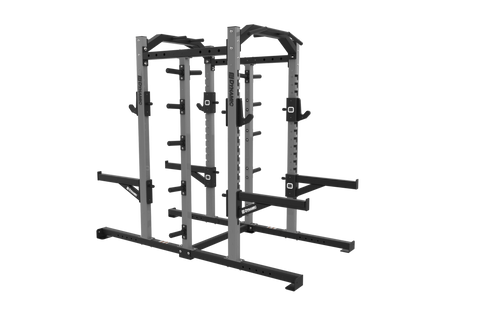 Edge Double Half Rack, Single Storage Post, Olympic Storage