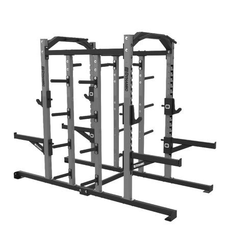 Edge Double Half Rack, Dual Storage Post, Bumper Storage