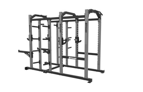 Edge Half Rack 8' Power Rack Combo, Dual Storage Post, Bumper Storage