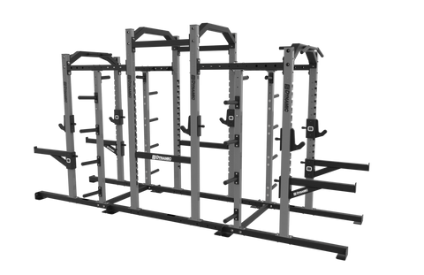 Edge Half Rack 9' Power Rack Combo, Dual Storage Post, Bumper Storage