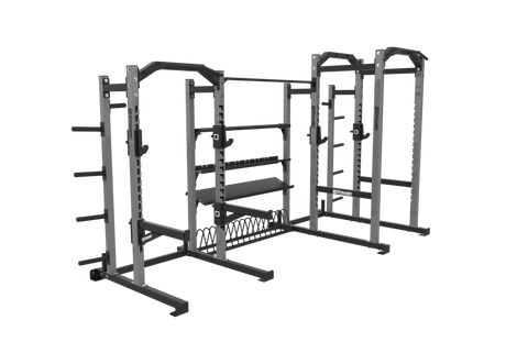 Edge Half Rack/ 8' Power Rack Combo, Annex Storage System