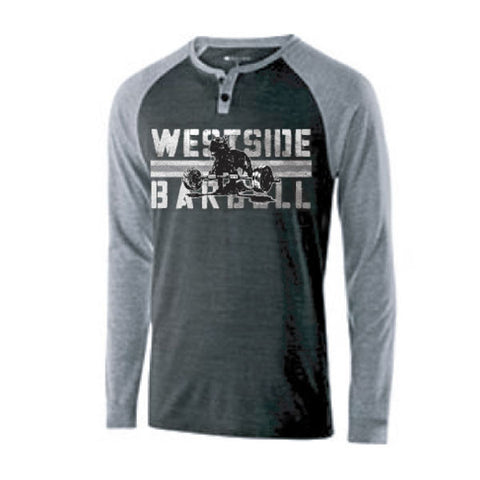 Westside Barbell™ Vintage Raglan Alumni Shirt - Black/Gray
