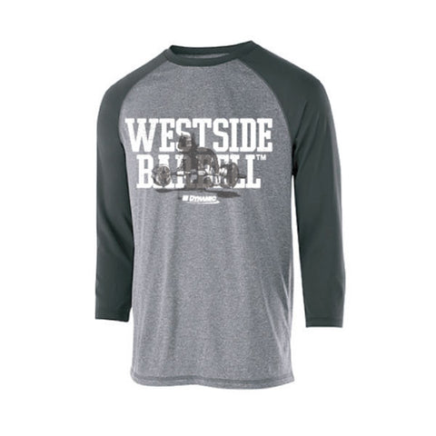 Westside Barbell™ Typhoon 3/4 Sleeve Shirt - Graphite Heather / Carbon
