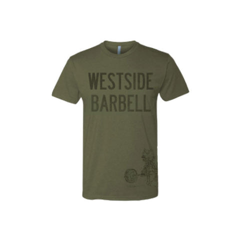 Westside Barbell™ Slightly Heathered Mens CVC Tee - Military Green