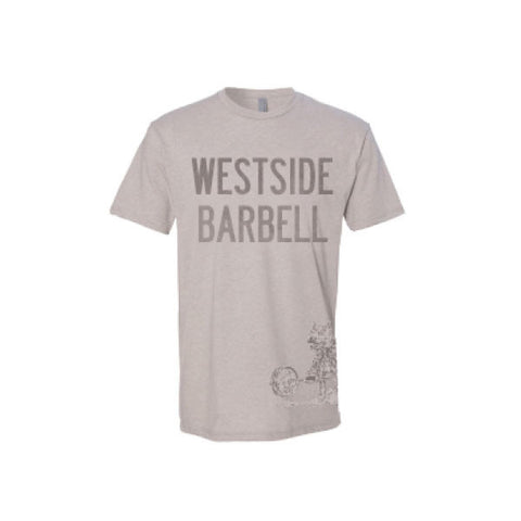 Westside Barbell™ Slightly Heathered Mens CVC Tee - Silk