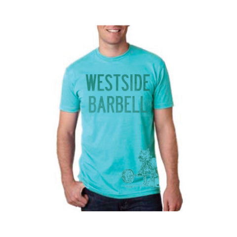 WESTSIDE BARBELL™ SLIGHTLY HEATHERED MENS CVC TEE - Tahiti Blue