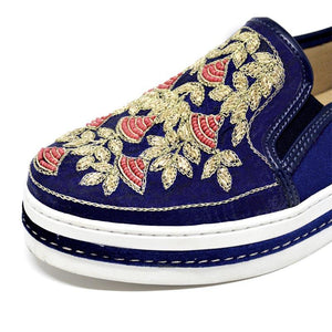 Slip On Bordado Azul