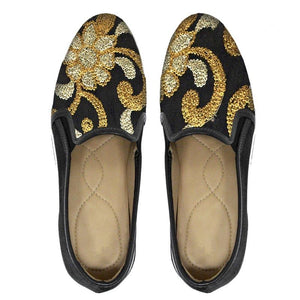 Slip On Bordado Preto - Swarna